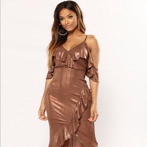 Fashion nova golden dress